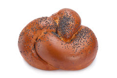 Sweet bun with poppy seeds Royalty Free Stock Images