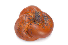 Sweet bun with poppy seeds Royalty Free Stock Photos