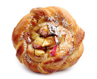 Free Sweet Bun With Apple Closeup Stock Photography - 33476912