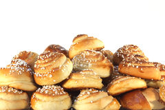 Sweet buns in bunch Royalty Free Stock Photos