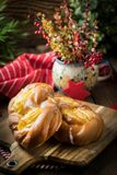 Sweet buns with cheese. stock photography