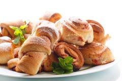 Sweet buns with jam Stock Image