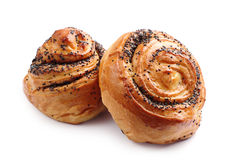 Sweet buns with poppy seeds Royalty Free Stock Photos