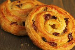 Sweet buns with raisins Royalty Free Stock Photo