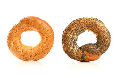 Sweet buns with sesame Royalty Free Stock Images