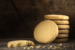 Sweet butter cookies Stock Photos