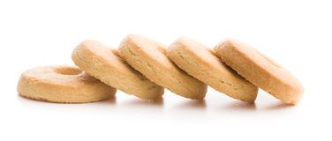 Sweet buttery biscuits. stock images