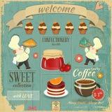 Sweet Cafe Menu Retro Design Royalty Free Stock Images