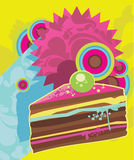 Sweet Cake. Sweet dessert illustration. tasty designed Royalty Free Stock Photo
