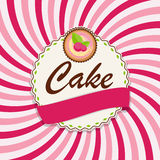Sweet Cake with Berry Menu Background Vector Illustration Stock Photo