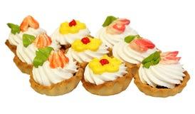 Sweet cake with cream Stock Photos