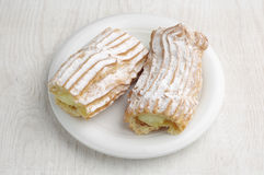 Sweet cake with creamy Royalty Free Stock Photos