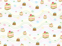 Sweet cake and cupcake pattern Stock Photography