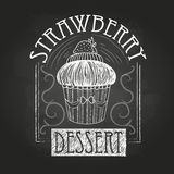 Sweet cake. Decorative sketch Royalty Free Stock Photos