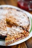Sweet cake with fruit jam Royalty Free Stock Photos
