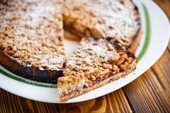 Sweet cake with fruit jam Stock Photos
