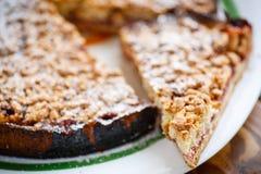 Sweet cake with fruit jam Royalty Free Stock Photo