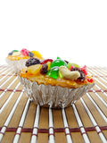 Sweet cake with fruits topping Royalty Free Stock Photography