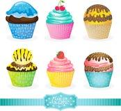 Sweet cake icons Stock Photography
