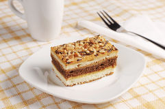 Sweet cake with nuts Stock Photo