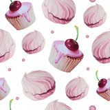 Sweet cake patten vector watercolor. Vector Stock Photos