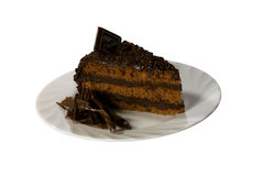 Sweet cake on the plate Royalty Free Stock Image