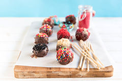 Sweet cake pops Royalty Free Stock Images