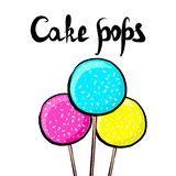 Sweet cake pops, vector illustration stock illustration