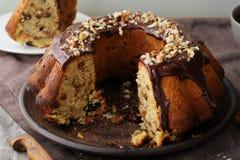 Sweet cake with raisins Stock Photo