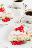 Sweet cake with red currants Stock Photography