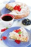 Sweet cake with red currants Stock Photos