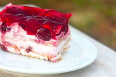 Sweet cake with red jelly Stock Images