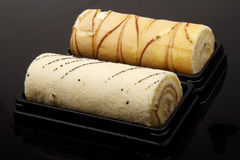 Sweet cake roll Stock Image