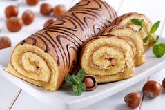 Sweet cake roll Royalty Free Stock Photo