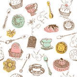Sweet cake. seamless pattern Stock Photos