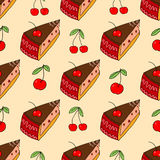 Sweet cake seamless pattern Royalty Free Stock Photo