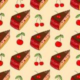 Sweet cake seamless pattern Royalty Free Stock Photo