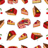 Sweet cake seamless pattern Stock Images