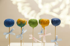 Sweet cake on stick Royalty Free Stock Photo
