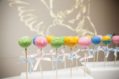 Sweet cake on stick Stock Image