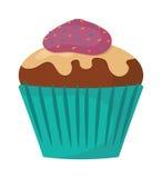 Sweet cake vector illustration, fresh dessert isolated on white background Royalty Free Stock Photos