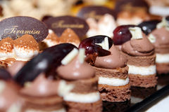 Sweet Cakes. Many Sweet Cakes on the Table Royalty Free Stock Photo