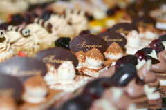 Sweet Cakes. Many Sweet Cakes on the Table Royalty Free Stock Photos