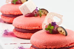 Sweet cakes. With fruit and a fruit candy Royalty Free Stock Photos