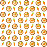 Sweet Cakes with Carrot Seamless Pattern Background Vector Illus Royalty Free Stock Photography