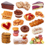 Sweet cakes collection stock photo