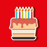 Sweet cakes design Royalty Free Stock Images