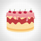 Sweet cakes design. Illustration eps10 graphic Royalty Free Stock Photography