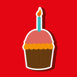 Sweet cakes design. Illustration eps10 graphic Royalty Free Stock Images