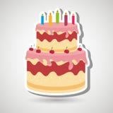 Sweet cakes design. Illustration eps10 graphic Royalty Free Stock Image